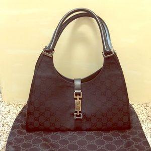 Gucci monogram canvas bag